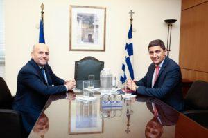 Η αναβάθμιση των εγκαταστάσεων του ΟΑΚΑ στη συνάντηση Αυγενάκη-Αλαφούζου – News.gr